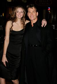 Tamsin Egerton and Patrick Swayze at the UK premiere of