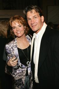 Patrick Swayze and Lea Thompson at the Hallmark Channel's TCA Press Tour party.