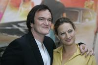Quentin Tarantino and Zoe Bell at the Germany screening of their new film