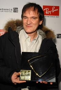 Quentin Tarantino at the Ray Ban Visionary Awards honoring.