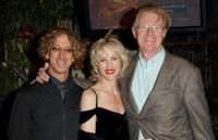 Andy Dick, Rachelle Carson and Ed Begley Jr. at the Oscar night party sponsored by Children Uniting Nations.