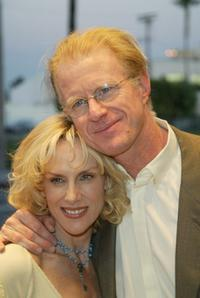 Rachelle Carson and Ed Begley Jr. at the weSPARKLE Night variety show.