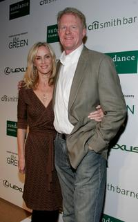 Rachelle Carson and Ed Begley Jr. at the launch of Robert Redford's