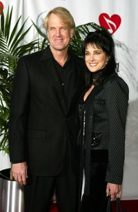 John Tesh and Connie Sellecca at the 2005 MusiCares Person of the Year Tribute to Brian Wilson.
