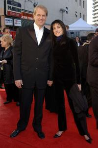 John Tesh and Connie Sellecca at the ABC Television Network's 50th Anniversary.