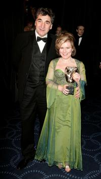 Jim Carter and Imelda Staunton at the Orange British Academy Film Awards 2005.
