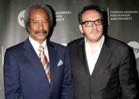 Allen Toussaint and Elvis Costello at the World Hunger Year's event honoring Elvis Costello and John Edwards.