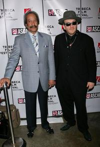 Allen Toussaint and Elvis Costello at the Tribeca/ASCAP Music Lounge.