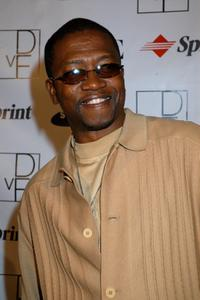 T.K. Carter at the launch party to celebrate Diane von Furstenberg's limited edition designer mobile phone.