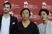Eric Bossick, Shinya Tsukamoto and Masa Tanishima at the photocall of