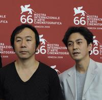 Shinya Tsukamoto and Masa Tanishima at the photocall of