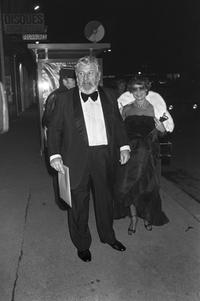 Peter Ustinov at the Cesars film awards ceremony in Paris.