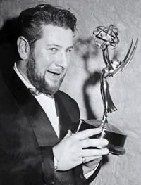 Peter Ustinov at the Emmy Award he won for Best Male Performer for the television program