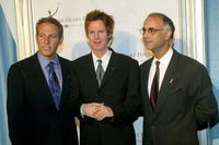 Mark Litman, Dana Carvey and Dr. P.K. Shah at the Heart Foundation Gala honoring Kirk and Anne Douglas.