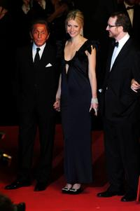 Valentino, Gwyneth Paltrow and Director James Gray at the premiere of