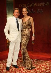 Valentino and Guest at the Dolce and Gabbana party during the 61st International Cannes Film Festival.
