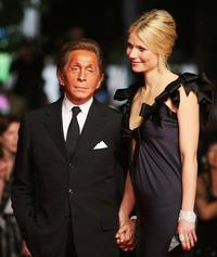 Valentino and Gwyneth Paltrow at the premiere of