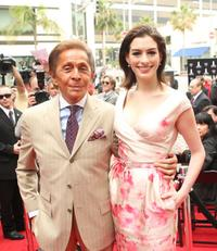 Valentino and Anne Hathaway at the Rodeo Drive Walk of Style Induction Ceremony for Valentino.