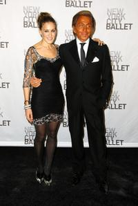 Sarah Jessica Parker and Valentino at the opening night celebration of New York City Ballet.