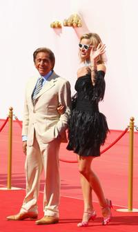 Valentino and Eva Herzigova at the premiere of