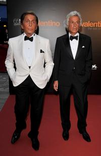 Valentino and Giancarlo Giammetti at the premiere of