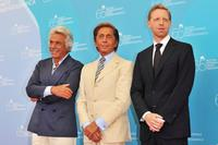 Giancarlo Giammetti, Valentino and Director Matt Tyrnauer at the premiere of