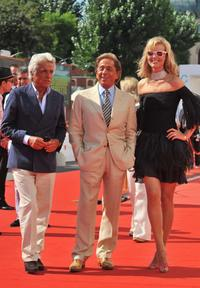 Giancarlo Giammetti, Valentino and Eva Herzigova at the premiere of