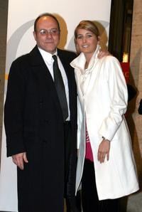 Carlo Verdone and his daughter Giulia at the Nastri DArgento Ceremony (Italian Movie Awards presented by the Association of Film Critics).