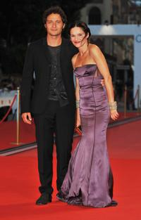 Claudio Santamaria and Chiara Caselli at the premiere of