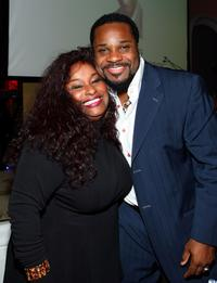 Chaka Khan and Malcolm-Jamal Warner at the USA TODAY Hollywood Hero honoring Magic Johnson.