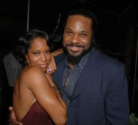 Regina King and Malcolm-Jamal Warner at the after party of the premiere of