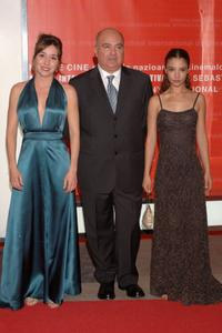 Lola Duenas, Agustin Almodovar and Johana Cobo at the opening Ceremony of 54th San Sebastian Film Festival.