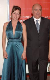 Lola Duenas and Agustin Almodovar at the opening Ceremony of 54th San Sebastian Film Festival.