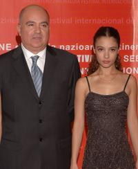 Agustin Almodovar and Johana Cobo at the opening Ceremony of 54th San Sebastian Film Festival.