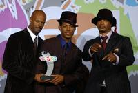 Keenan Ivory Wayans, Marlon Wayans and Damon Wayans at the Pasadena Civic Auditorium with their BET Comedy Icon Award at the First-Ever BET Comedy Awards.