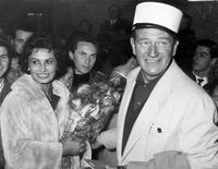 John Wayne and Sophia Loren
