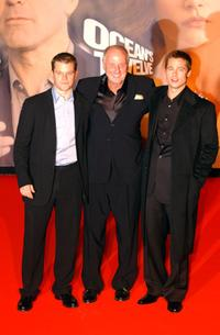 Matt Damon, Jerry Weintraub and Brad Pitt at the European premiere of