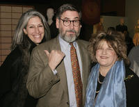 Deborah Nadoolman Landis, director John Landis and Julie Weiss at the Art of Motion Picture Costume Design Exhibition.