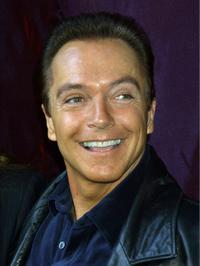 David Cassidy at an event to unveil the original Santa suit worn by Edmund Gwenn in