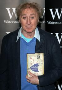 Gene Wilder signs copies of his debut novel,