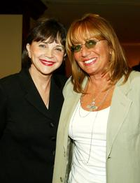 Cindy Williams and Penny Marshall at the Penny Marshalls birthday party to benefit Life on Purpose Foundation and West Coast NBA Retired Players Organization.