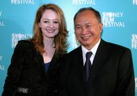 Miranda Otto and John Woo at the Australian premiere of