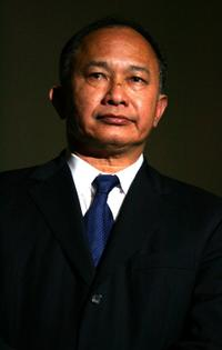 John Woo at the 2008 Tokyo China Cinema Week Opening Ceremony.