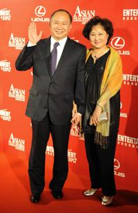 John Woo and Annie Woo at the Third Asian Film Awards ceremony.