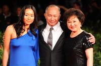 Angeles Woo, John Woo and Annie Woo at the 67th Venice Film Festival.