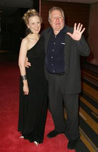 Taryn Fiebig and John Wood at the opening night of the music production of