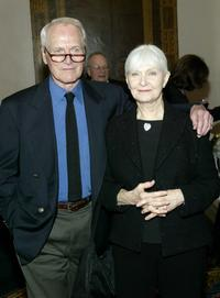 Joanne Woodward and husband Paul Newman at the National Actors Theater Benefit.