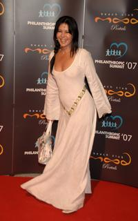 Maria Conchita Alonso at the Mood Beach Club, attends Playing For Good Vip Party.