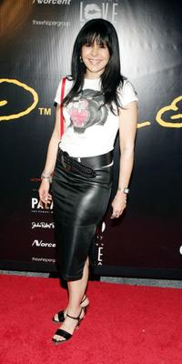 Maria Conchita Alonso at the Christian Audigier Fashion Show.
