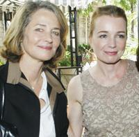 Charlotte Rampling and Karen Young at the Unifrance Press lunch during the 30th Toronto International Film Festival.